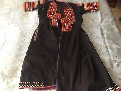 Beautiful Vintage Hand-Woven And Hand-Embroidered Folk Costume