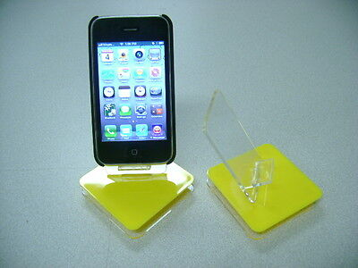 LOT OF 100 NEW STAND HOLDER CELL PHONE DISPLAY 1 in 1 YELLOW USA