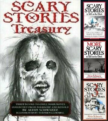 Scary Stories To Tell In the Dark Book Set 1 2 3 Scary Stories Treasury Original