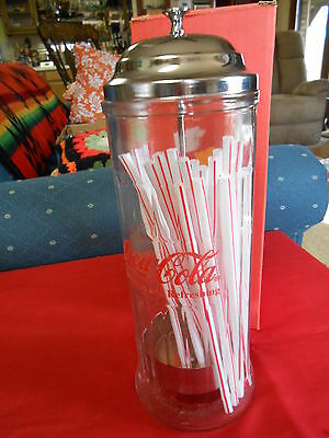 """Great Collectable- Old Fashioned COCA COLA """"Straw"""" Dispenser................SALE"""