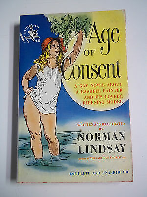 The Age of Consent by Norman Lindsay Pocket Books 539 1949 Vintage Paperback GGA