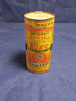 Vintage Famous First Aid Extinguisher w Wall Bracket New York NY USA