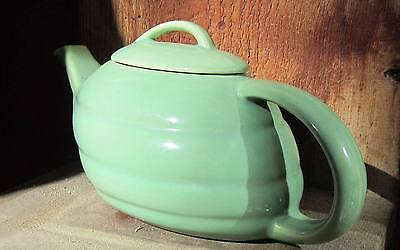 "VINTAGE ""Bauer"" Los Angeles Coffee/Tea Pot Lovely Green 13"" X 4"" X 5""  Made USA"