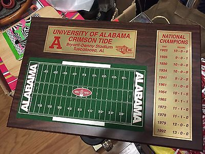 New Univesity of Alabama National Championship Plaque (Check The Pictures) LQQK