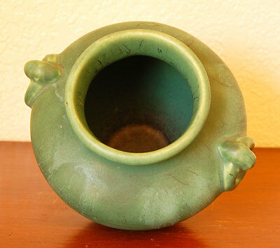 Classic Camark Art Pottery Green Flower Vase Arts & Crafts Mission Style #202