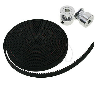 3D Printer GT2 6mm Timing Belts and 20 tooth 5mm Bore Shaft Timing Pulleys UK
