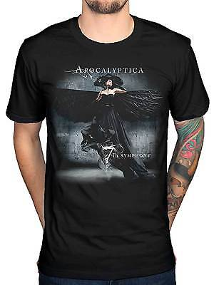 Official Apocalyptica 7th Symphony T-Shirt Skull Roses Helsinki I Don't Care