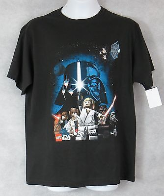 Lego Star Wars Boys T-Shirt New Black Distressed Officially Licensed Darth Vader