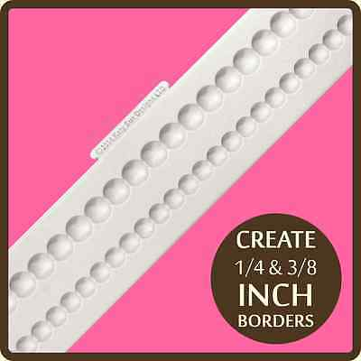 """Katy Sue Designs SHALLOW PEARL BORDERS CB0002 Cake Crafting Mould 1/4"""" 3/8"""" Bord"""