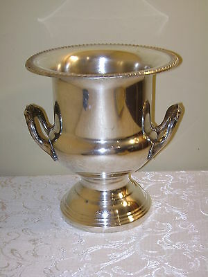 Lovely Leonard Silverplate Champagne Wine Ice Bucket with Gadroon Border