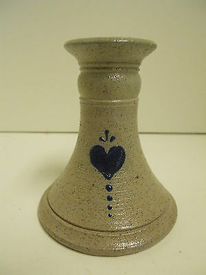 Rowe Pottery Works, Heart Candlestick, 4""
