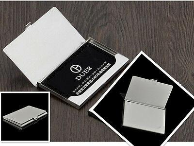 Useful Business Name ID Credit Card Holder Organizer Stainless Steel Case Box