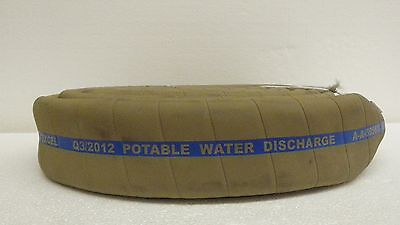 "2""x20' RUBBER POTABLE WATER DISCHARGE HOSE - w/Male & Female Camlock Fittings"