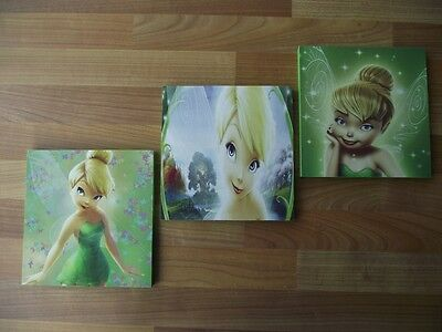 Tinkerbell/fairies Canvas Wall Art Plaques/pictures Set - Free Postage