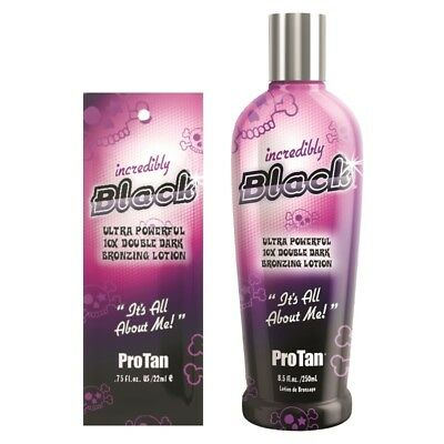 Pro Tan Incredibly Black bronzer sunbed tanning lotion cream SACHETS or BOTTLES