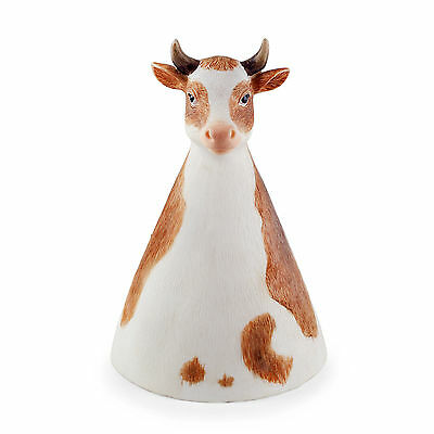 Mollie the Fence Sitting or Free-Standing Detailed Resin Cow Garden Ornament