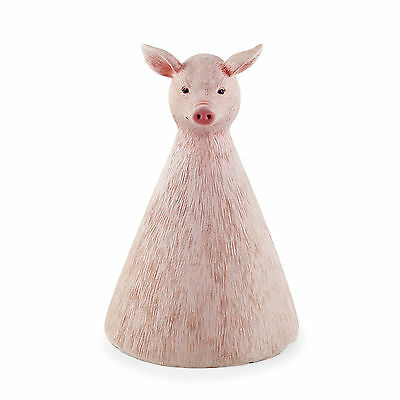 Olive the Fence Sitting or Free-Standing Detailed Resin Pig Garden Ornament