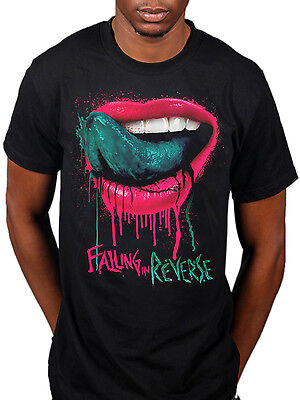 Official Falling In Reverse Dripping Lips T-Shirt Rock Band Ronnie Radke