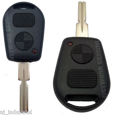 BMW 2 BUTTON EMPTY REMOTE KEY BLANK SHELL - 3 5 7 SERIES Z3 E39 E46 AFTERMARKET