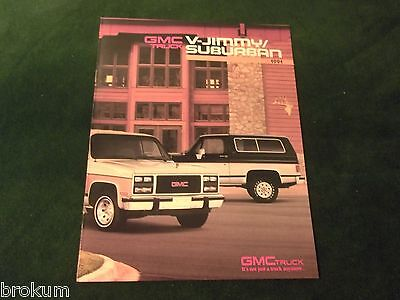 Mint 1991 Gmc V-Jimmy / Suburban Truck Sales Brochure Original New (322)