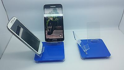 LOT 5 NEW STAND HOLDER CELL PHONE DISPLAY 2 in 1 OFF BLUE