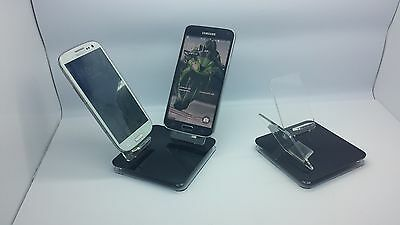 LOT 5 NEW STAND HOLDER CELL PHONE DISPLAY 2 in 1 OFF BLACK
