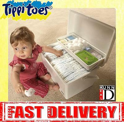 Tippitoes Baby Nappy Changing Storage Box Solution Organiser  <BRAND NEW>