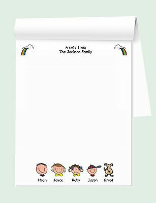 """family Faces"" Personalized Notepad"