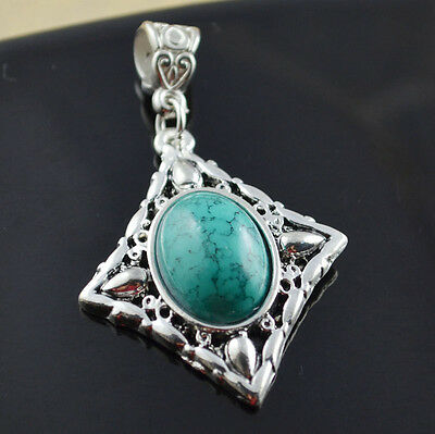 fashion jewelry  Natural hot Turquoise cute tibet silver PENDANT    **XL1412