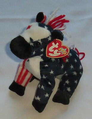 LEFTY 2000 THE ELECTION DONKEY - Ty Beanie Baby - (Beanies, Babies)