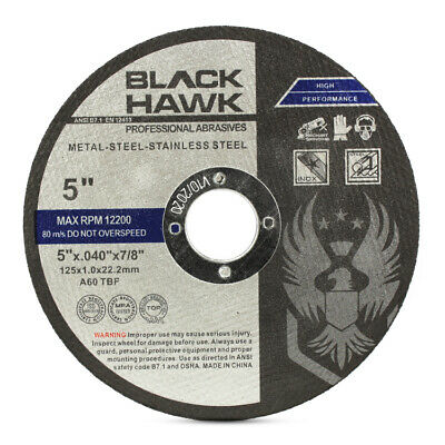 """50 Pack 5""""x.040""""x7/8"""" Cut-off Wheel - Metal & Stainless Steel Cutting Discs"""
