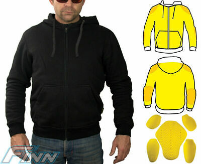 Mens Motorcycle Jacket CE Armour Lined with Knitted Dupont™ Kevlar® Water Resist