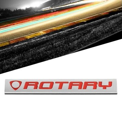 Red/Chrome Rotary Auto Trunk Badge Emblem Decal Medalla 3M Adhesive Sticker