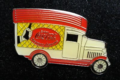 Coke Coca-Cola Antique Style Transportation Truck French Marques Deposees Pin