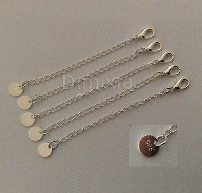 925 Silver Sterling Necklace Chain Bracelet Extender Extention + Lobster Clasp
