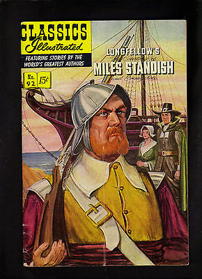 Classics Illustrated #92 Vg+ (O)   Hrn92  (Longfellows Miles Standish)