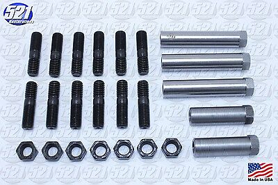 Mopar Exhaust Manifold Hardware Kit Studs Sleeve Nuts 68-71 C Body Big Block HP