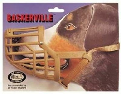 Baskerville Muzzle Plastic Dog Muzzle  For Training Adjustable Various Sizes