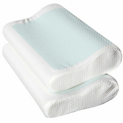 2x Supreme High Density Memory Foam Pillow Contour Cool Gel Home Hotel Top Cover