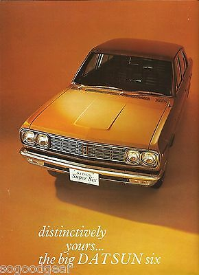 DATSUN BIG SIX single page double sided SALES BROCHURE [VS]