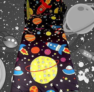 Boys Bedding Set Space Rocket Planets Stars Navy Blue - All Sizes Available