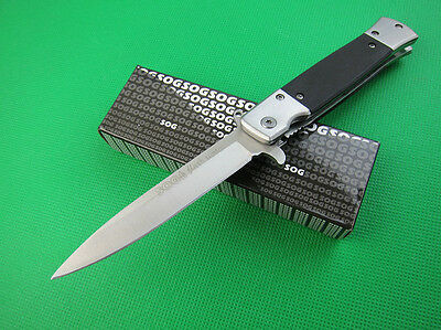 SOG Pocket Knife Assisted Opening Folding Clip Camping Hunting Fishing k164y NEW