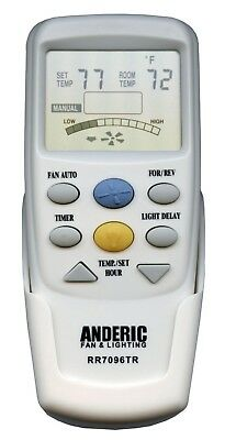 Hampton Bay Thermostatic CHQ7096T W/ REVERSE and Light Dimming Remote control