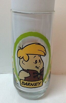 PROMO 1986 Hanna-Barbera The Flintstone Kids Pizza Hut Barney Glass16oz
