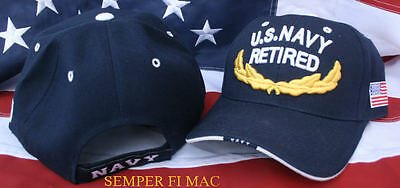 d5dc778e4df Us Navy Retired Vip Hat Usn Cap Sailor Chief Officer Wownh Pin Up Veteran  Gift