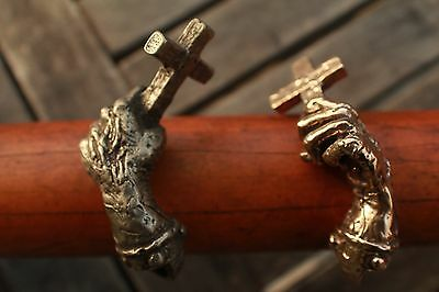 Bronze Crusader Cross Handmade Medieval Viking