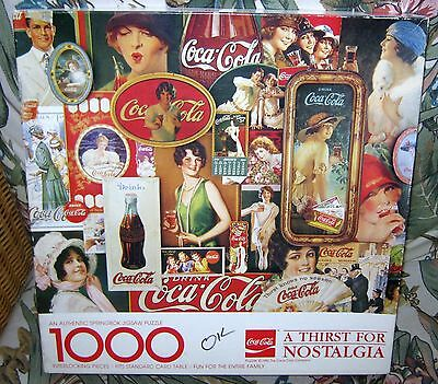 "Coca-Cola 1000 Piece Puzzle Springbok 1982 ""a Thirst For Nostalgia"""