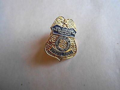 Vintage US Customs The Department of Treasury Special Agent Mini Pinback Badge
