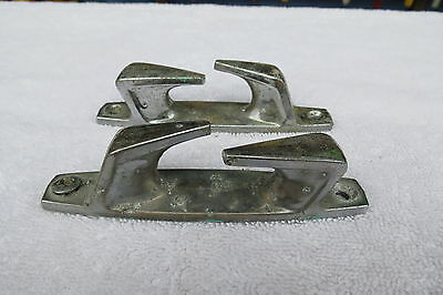 4+5/16 Inch Chrome Chocks Ship Boat Dock Cleat Chock (#1092)