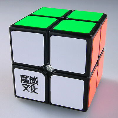 US YJ Moyu Lingpo 2x2x2 Speed Magic Cube Puzzle Smooth Black Brain Teaser Gift